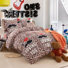 Mustache comforter sets leopard print bed linen roupa de cama bed sheets  totoro bed comforters and