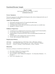 Resume: Simple Resume Outline