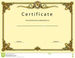 Certificate Vintage Certificate Award Diploma Template Stock Illustration 13