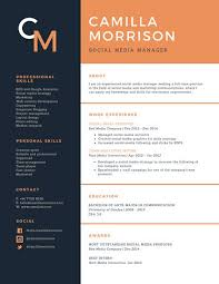 Canva Resume Inspiration Blue And Orange Formal Academic Resume Templates By Canva