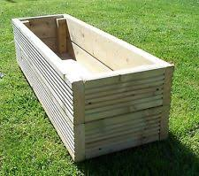 garden planters. Large Decking Wooden Garden Planter, 800, 1000 Or 1200mm Wood Trough, Handmade Planters