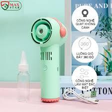 Quạt phun sương mini cầm tay không cánh tích điện để bàn siêu mát lạnh Máy  phun sương mini tạo ẩm CAO CẤP ✓ - P779953   Sàn thương mại điện tử