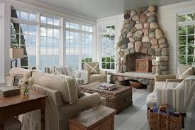 living room with stone fireplace decorating ideas modern cottage fireplaces design beach