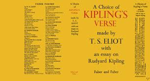 choice of kipling s verse made by t s eliot an essay on choice of kipling s verse made by t s eliot an essay on rudyard kipling a t s eliot