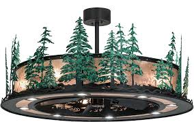 iron ceiling fan tall pines wrought iron silver mica green trees home ceiling fan loading zoom iron ceiling fan
