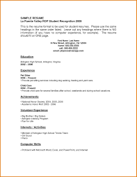 Work Experience Template First Resume Template No Experience