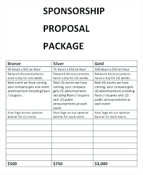 Charity Proposal Template Fundraising Sample Sport Event Sponsorship