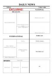 Newspaper Article Template Worksheets Front Page Newspaper Article Template Under Fontanacountryinn Com