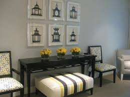 Light Grey Color On Wall Design Ideas Has Black Sidetable With Living  Chairs And Bench Also ...