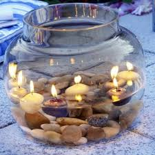 ... 37 Cool Candles Ideas for Summer - original centerpiece on the table