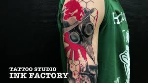 тату студия Inkfactory москва рукав в треш польке