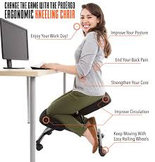 perfect posture chair. Amazon.com: ProErgo Ergonomic Kneeling Chair \u2013Adjustable Height - Office Seating With An Edge! Perfect For Relieving Back And Neck Pain \u0026 Improving Posture