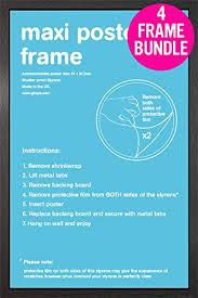 gb posters 4 black maxi poster frames 61x91 5cm bundle