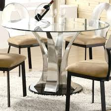 glass top for dining table round glass dining table top with curvy silver chrome base plus glass top for dining table