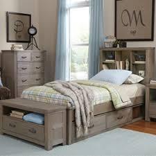 Toddler Bed For Boy Storage Underneath Light Wood Flooring Wooden Boys Bed