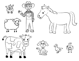 Printable Coloring Pages Animals Farm Free Farm Animal Coloring