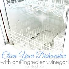 use vinegar to get a clean dishwasher