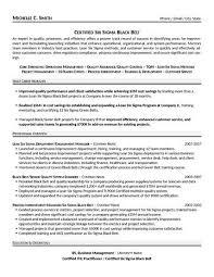 process improvement resumes certified six sigma black belt resume