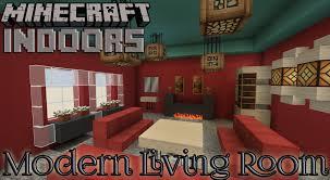 Minecraft Interior Design Living Room Modern Living Room In Red Minecraft Indoors Interior Design