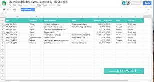Freelancer Expenses Spreadsheet Freework