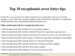 Cover Letter Samples For Receptionist Medical Cover Letter Examples