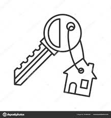 Depositphotos 191567520 stock illustration key trinket house linear icon