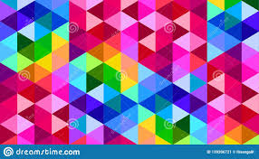 Triangle Design Wallpaper Rainbow Color Polygonal Triangle Background Pattern Design
