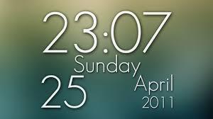 desktop animated clock wallpaper