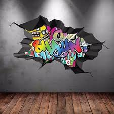 image is loading personalised graffiti wall art sticker decal children 039  on graffiti wall art bedroom with personalised graffiti wall art sticker decal children s bedroom