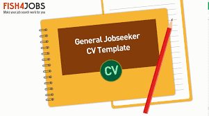 general cv template generic cv template career advice expert guidance fish4jobs