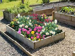 9 inch high timber raised flower bed