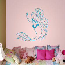 little mermaid wall decals mermaid wall decals e a