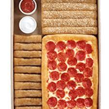 10 dinner box um 1 topping pizza