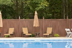 brown vinyl fence panels. V300-6 - Grand Illusions Vinyl WoodBond Walnut (W103) T\u0026G Privacy Fence. Fence Brown Panels I