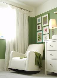 An amazing green and white room with great ideas