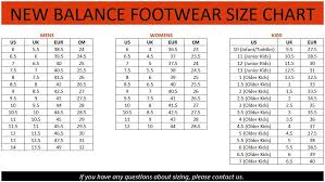 New Balance Women S Clothing Size Chart American European Sizes Page 2 Of 2 Chart Images Online