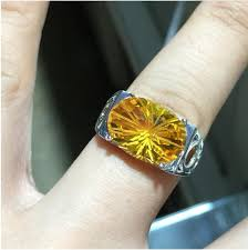 Men ring <b>Citrine</b> ring Natural real <b>citrine</b> 925 sterling silver Fine ...