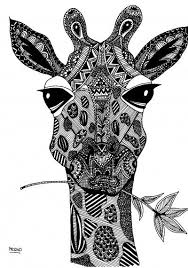 Abstract Adult Coloring Pages Giraffe Printable Brilliant Tixac