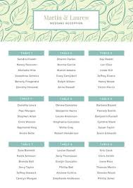 Blue Leaves Pattern Wedding Seating Chart Templates By Canva