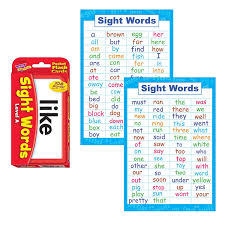 Sight Words Flash Cards And Poster Set Pre K And Kindergarten Basic Sight Words High Frequency Word Flashcards Dolch And Fry For Kids Learning How