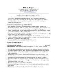 Kindergarten Teacher Resume Samples - Best Resume Collection