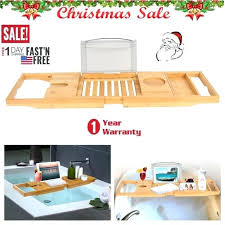 bamboo bath caddy bathroom bamboo bathtub rack bath wine glass holder tray over bath tub us