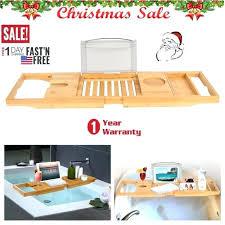 bamboo bath caddy bathroom bamboo bathtub rack bath wine glass holder tray over bath tub us