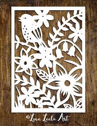 Paper Cutting Patterns Mesmerizing PERSONAL USE Papercutting Template Flower Garden By LoveLeelaArt