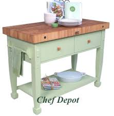 jasmine block pictured in sage green butcher block kitchen cart99