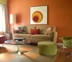 Orange And Blue Living Room Decorating Living Roomswith Orange And Green Home Decor Interior
