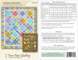 Four Paws Quilting - Patterns & Gimme Diamonds Quilt Pattern Adamdwight.com