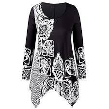 Zttone Fashion Women Plus Size O Neck Folk Custom Print