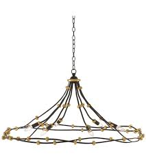 currey company 9000 0254 anomaly 6 light 45 inch black iron and antique gold