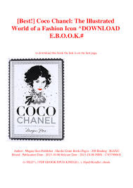 The Fashion Designer S Textile Directory Free Download Best Coco Chanel The Illustrated World Of A Fashion Icon